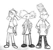 Hey Arnold 5th grade sketch by AJanae79