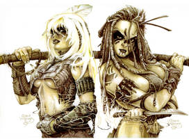 Amazons from different worlds by PlanetDarkOne