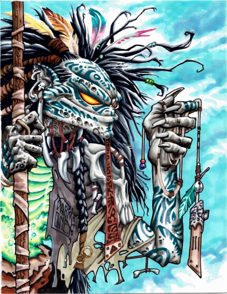 Tribal Evil Ernie GLOW CARD by PlanetDarkOne