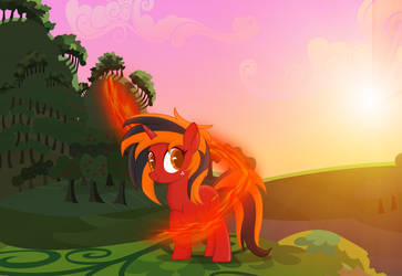 Blazing fire in the morning by Thunder-Artist