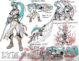 Lyn's Moves for Smash Bros. by AngstyGuy