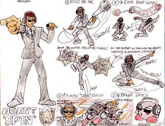 Agent 'Spin''s SSB Moves by AngstyGuy