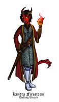 Nr.3 Kindra - Tiefling Wizard by Cheesedemon88