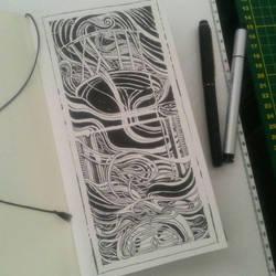 tarot card on a Midori Travellers Notebook. by tolagunestro