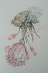 Surreal botanical illustration by tolagunestro