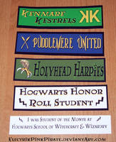 HP Quidditch Hogwarts stickers by ElectrikPinkPirate