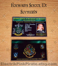 Slytherin ID card...FINALLY by ElectrikPinkPirate