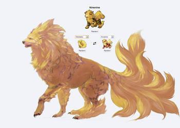 Pokemon fusion, Ninenine by Roiuky