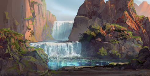 Land of birth - the falls of Vimbue by Roiuky