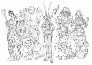 Birthday Lineup by BartimaeusTrilogyFan