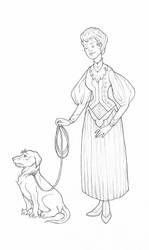 A Lady and her Canine by BartimaeusTrilogyFan
