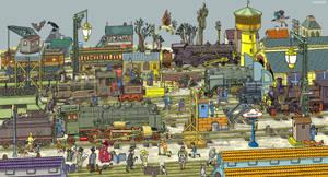 Railway Station by mourri