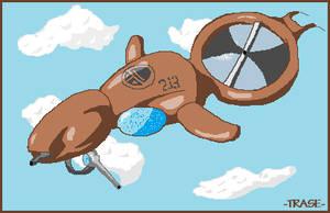 Half Life 2 Gunship Pixel Art by REALTRASE