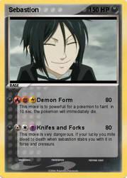 Sebastion Pokemon Card by YoCatty