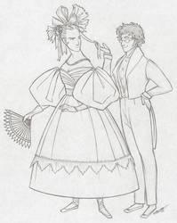 Enjolras and Combeferre Sketch 3 by cillabub