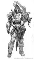 kush warrior by AlexPascenko