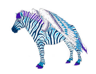 Zebra Pegasus Blue Punk Phase by stonewolf