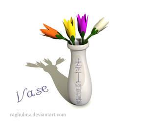 Flower n vase by raghulmz