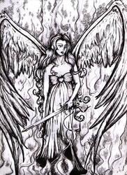 fallen angel by BibianaX
