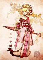 Kimono Peach - Revamped by Jay-Phenrix