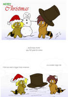 2009 Christmas Card of Chi Fun by CelixDog04