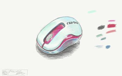 RAPOO M10 Mouse Sketch by Kawaii-Ricecake