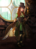 Ready for the Kill (Steampunk Warrior) by SelectYourself