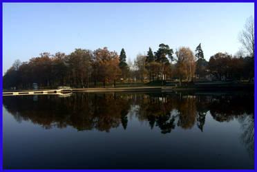 Park by the lake by Sharka-Larim