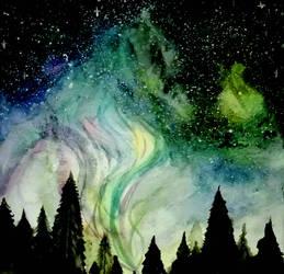 Colorful night  by lyraViola