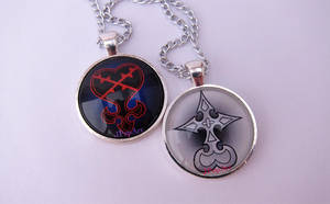 Kingdom Hearts pendants by JPepArt