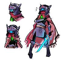 Hyper Light Drifter protagonist by NightMargin