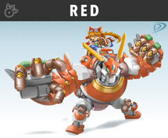 Smashified - Red Savarin for Super Smash Bros by KuronosuSai