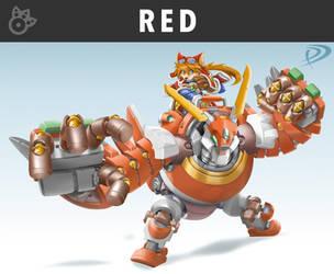 Smashified - Red Savarin for Super Smash Bros by KuronosuSai