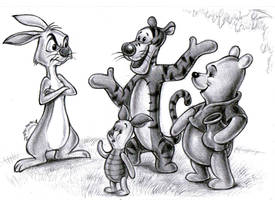 Winnie the Pooh and Friends by zdrer456