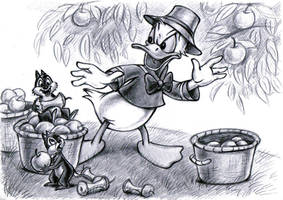 Donald Duck, Chip and Dale by zdrer456