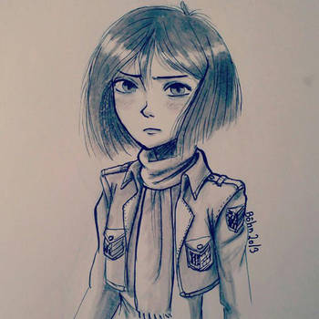 Mikasa Ackerman by airefee