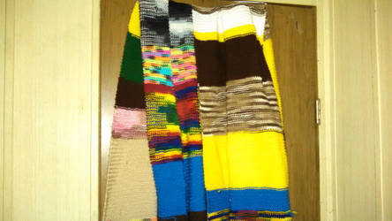 4doctor who scarf made by own hands part 2 by misstresshero
