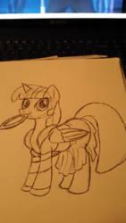 my little pony twilight as Xena warrior princess by misstresshero