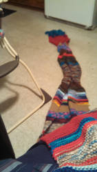 my own doctor who multi color scarf from tom Baker by misstresshero