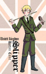 England and his Slipper by Arkham-Insanity