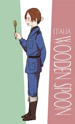 Italy and his Wooden Spoon by Arkham-Insanity