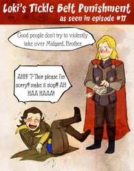 Loki's Tickle Belt Torture by Arkham-Insanity