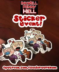 Sticker Give-Away by Arkham-Insanity