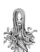Medusa Sketch by degefors