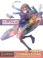 Galactica Damaged by sydusarts