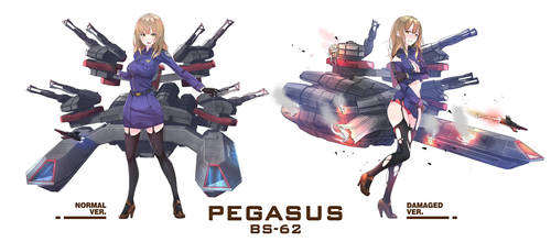 Battlestar Pegasus x Kantai Collection Commission by sydusarts