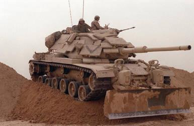 The M60 Patton  gulf war by unspacy