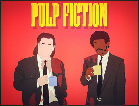 Pulp fiction wallpaper vector by DanteAg