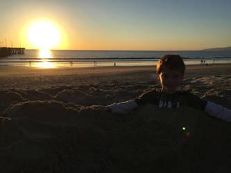 Santa Monica Beach by Wannabby