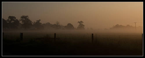 Mists over Ston Easton by korenwolf